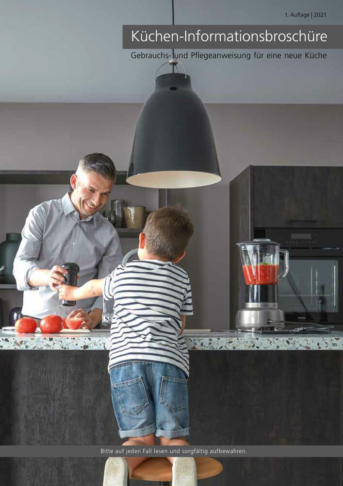 Kücheninformationsbroschüre mit Tipps zu einer gepflegten Küche