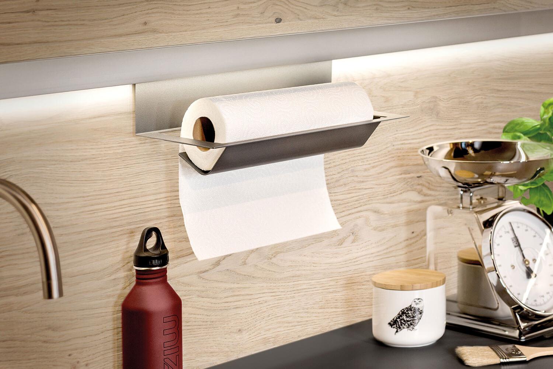 Küchenrollenhalterung an Wandpaneel