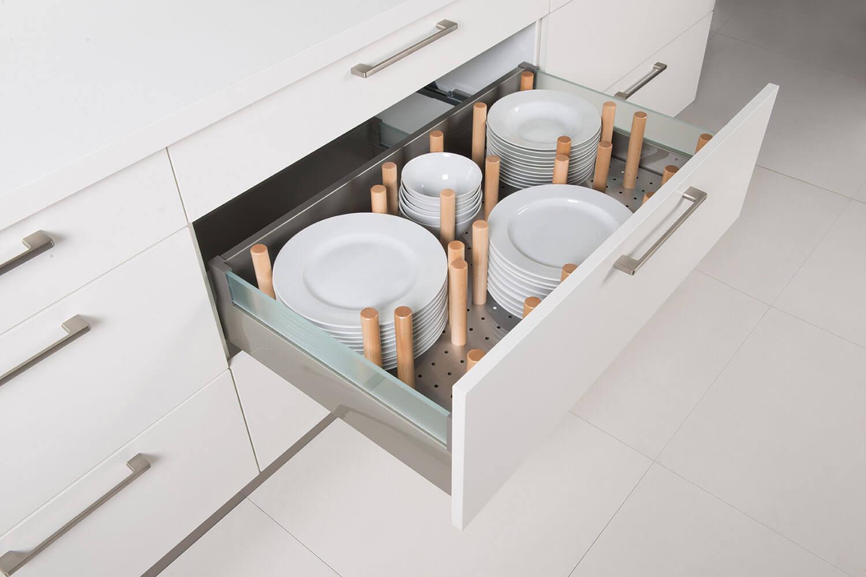 Vario-Einsatz für Schubladenorganisation für Teller